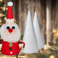 Aujourd'hui, nous allons transformer un simple cône en polystyrène en un magnifique Père Noël ! Un bricolage facile et original à faire avec les enfants cet hiver.