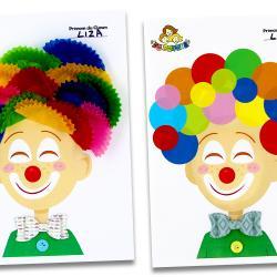 On vous a préparé un joli Clown à imprimer qui permettra aux jeunes enfants de faire une activité de collage facile pour le Carnaval.    Nous mettons en avant 2 méthodes faciles pour créer les cheveux du clown :   en collant des caissettes