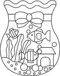 Aquarium 02 - motif à imprimer