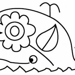 Baleine 02 - motif à imprimer