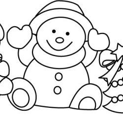 Bonhomme de neige 01 - motif à imprimer
