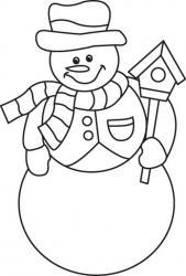 Bonhomme de neige 02 - motif à imprimer