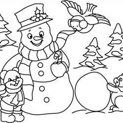 Bonhomme de neige 03 - motif à imprimer