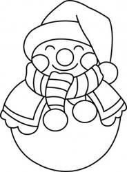 Bonhomme de neige 04 - motif à imprimer