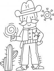 Cowboy 01 - motif à imprimer