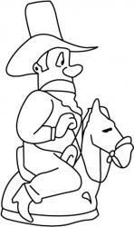 Cowboy 02 - motif à imprimer