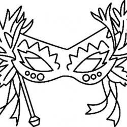 Un masque à télécharger et à colorier pour l'utiliser lors du Carnaval.