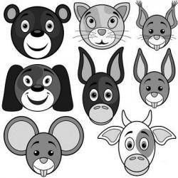 Des têtes d'animaux et imprimez gratuitement afin de pouvoir les colorier