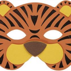 Un masque de tigreà imprimer pour le Carnaval afin de pouvoir se déguiser en beau tigre !
