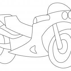 Moto 03 - motif à imprimer
