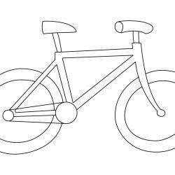 coloriage vélo : imprimez et coloriez ce dessin de vélo facilement sur le site.