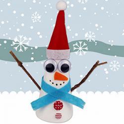 Un tuto pour apprendre à fabriquer un bonhomme de neige en polystyrène