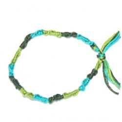 Bracelet tricolore , fils de coton