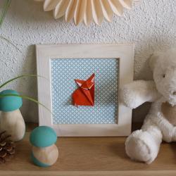 tuto pour réaliser un cadre renard en origami avec vos enfants. Une fois ce cadre réalisé, il fera une très belle décoration pour une chambre ou une autre pièce de la maison.