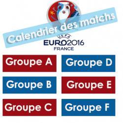 Calendriers de l'EURO 2016
