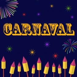 """Chanson """"Carnaval"""" pour chanter avec les enfants. Paroles version à colorier."""