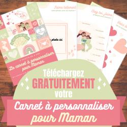 Un carnet à personnaliser pour maman à imprimer gratuitement avec des photos, des textes ou des poèmes. Un cadeau pour la Fête des Mères ou l'anniversaire d'une maman.