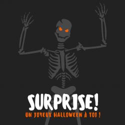 Imprimez gratuitement cette jolie carte d'Halloween avec son squlette afin de l'offrir à un ami ou à quelqu'un de la famille. Il suffit de l'imprimer sur du papier épais et d'y inscrire un petit mot à l'intérieur ou un beau dessin.