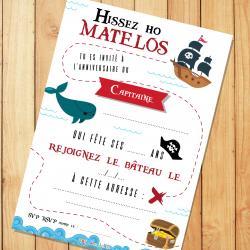 Cartes d'invitation d'anniversaire gratuites à imprimer pour inviter les amis à un anniversaire sur le thème des pirates, des princesses, des fées ... Les cartes et les enveloppes de Tête à modeler sont à imprimer.