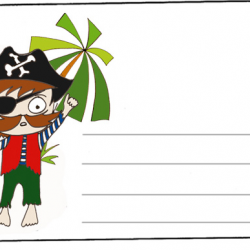 Cartes d'invitation d'anniversaire pirate