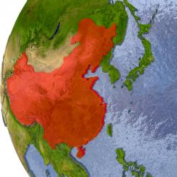 carte géographique de la Chine avec ses principales villes. La Chine se situe sur le continent Asiatique . Pour en dessiner rapidement les contours , on peut la représenter par un coq.
