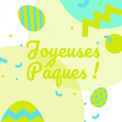 Carte Joyeuses Pâques à imprimer gratuitement pour l'envoyer à la famille et aux amis afin de leur souhaiter de passer de joyeuses Pâques. Imprimez la carte sur du papier épais et écrivez-y un joli texte avant de l'offrir.