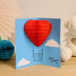Un tuto pour réaliser une carte pop-up montgolfière