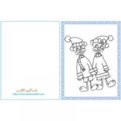 Cartes cadeau à colorier pour Noël