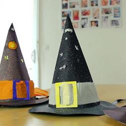 Comment faire des chapeaux de sorciers avec les enfants pour se déguiser à Halloween