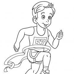 Collection de dessins pour le coloriage sur le thème de l'athlétisme
