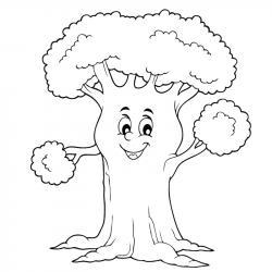 Un coloriage arbre pour tous les enfants qui aiment la nature et les arbres. Page 5