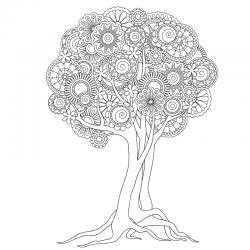 Un coloriage arbre pour tous les enfants qui aiment la nature et les arbres. Page 7