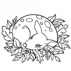 Voici un coloriage d'automne à imprimer gratuitement. Un dessin d'automne à imprimer pour tous les petits amoureux de la nature. Page 02