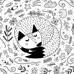 Voici un coloriage d'automne à imprimer gratuitement. Un dessin d'automne à imprimer pour tous les petits amoureux de la nature. Page 07