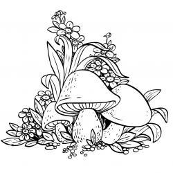 Voici un coloriage d'automne à imprimer gratuitement. Un dessin d'automne à imprimer pour tous les petits amoureux de la nature. Page 08