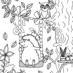 Voici un coloriage d'automne à imprimer gratuitement. Un dessin d'automne à imprimer pour tous les petits amoureux de la nature. Page 09