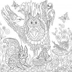 Voici un coloriage d'automne à imprimer gratuitement. Un dessin d'automne à imprimer pour tous les petits amoureux de la nature. Page 10