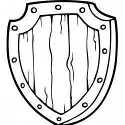 Un coloriage de bouclier de chevalier à proposer aux enfants qui aiment l'univers des chevaliers et leurs châteaux. Page 01