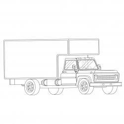 Coloriage camion : voici un dessin à imprimer avec un très beau camion. Un coloriage à imprimer sur le thème des camions et des véhicules - Page 02