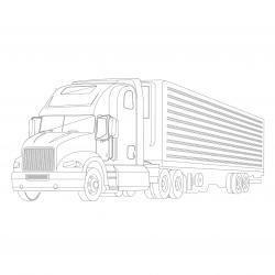 Coloriage camion : voici un dessin à imprimer avec un très beau camion. Un coloriage à imprimer sur le thème des camions et des véhicules - Page 06