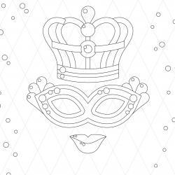 Voici le coloriage carnaval ! Un dessin à imprimer sur le thème du Carnaval et de mardi gras - Page 3