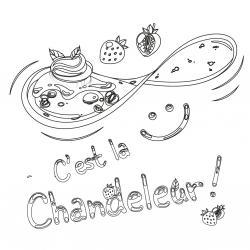 Voici le coloriage chandeleur ! Un dessin à imprimer sur le thème des crêpes et de la chandeleur - Page 2