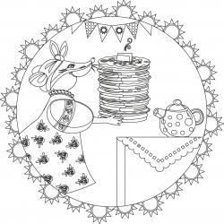 Voici le coloriage chandeleur ! Un dessin à imprimer sur le thème des crêpes et de la chandeleur - Page 5