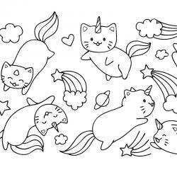 Voici un coloriage chat à imprimer gratuitement. Un dessin de chat à imprimer pour tous les petits amoureux des animaux. Page 10