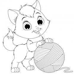 Voici un coloriage chat à imprimer gratuitement. Un dessin de chat à imprimer pour tous les petits amoureux des animaux. Page 3