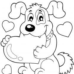 """Vous cherchez un """"coloriage chien""""  ou un dessin de chien ? Voici notre sélection de coloriages avec des chiens. Des dessins amusants, simples ou réalistes sur nos amis les chiens."""