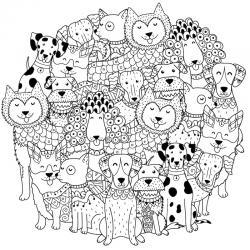 Voici un coloriage loup à imprimer gratuitement. Un dessin de loup à imprimer pour tous les petits amoureux des animaux. Page 1