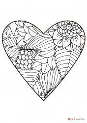 Voici le coloriage coeur #02. Un joli dessin à imprimer gratuitement plein d'amour !