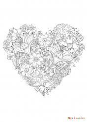 Voici le coloriage coeur #04. Un joli dessin à imprimer gratuitement plein d'amour !