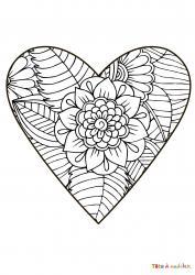 Voici le coloriage coeur #05. Un joli dessin à imprimer gratuitement plein d'amour !